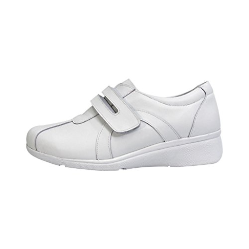 24 Hour Comfort  Bonnie (1062) Women Extra Wide Width Walking Shoes White 8.5 by 24 Hour Comfort (Image #1)