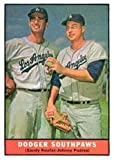 1961 Topps Regular (Baseball) Card# 207 Koufax/Podres of the Los Angeles Dodgers VGX Condition