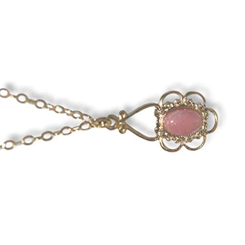 - Pink Rhodochrosite Inca Stone Gold-filled Adjustable Length