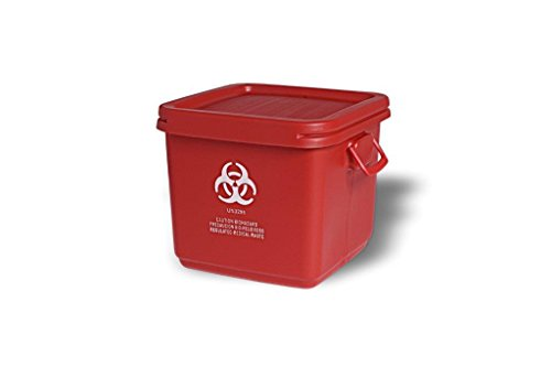 Solutions Assembled 18 Gallon Medical Waste Container, Red