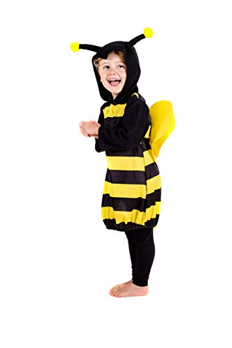 Kids Bumble Bee Costume Toddler Unisex Cute Animal Bumblebee Tunic - 1-2 -