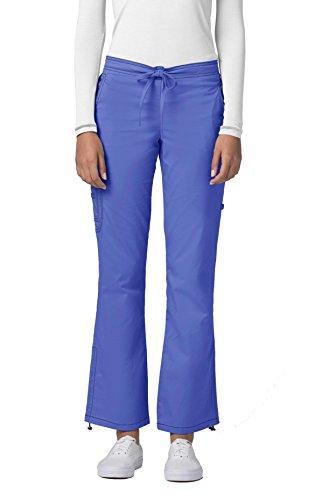 Adar Pop-Stretch Junior Fit Low Rise Boot Cut Bungee Leg Pants - 3102 - Ceil Blue - XL