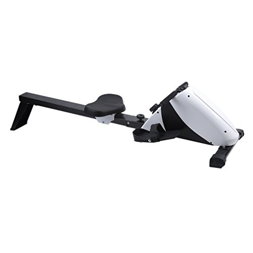 Homgrace Magnetic Folding Rowing Machine Rower Exercise Cardio Fitness Equipment w/LCD Monitor