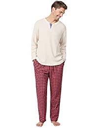 Mens Pajamas Set Plaid - Mens Flannel Pajama Set