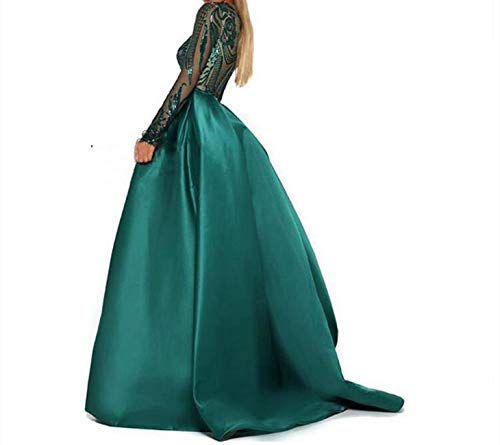 e1a9132a01fc Aries Tuttle Green/Burgundy/Navy Blue Sequined Satin Mermaid Prom Evening  Party Dress Celebrity