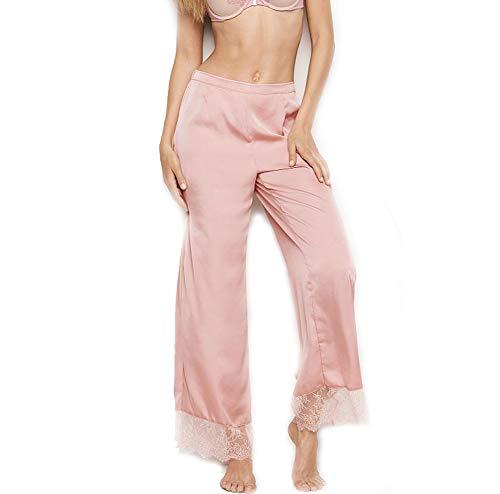 Victorias Secrets The Afterhours Pink Satin & Lace 1PC Pajama X-Large