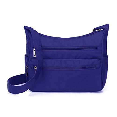Volcanic Rock Lightweight Shoulder Bags Messenger Handbags Multi Pocket Nylon Waterproof Crossbody Bags ()