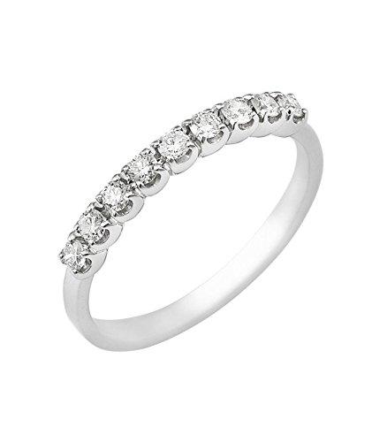 più recente 85c88 0bdb0 Anello Veretta a 9 pietre in Oro bianco 18k con diamanti ct ...