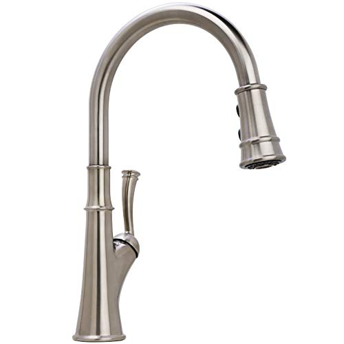 Miseno MK351 Caeli Pull-Down Dual Spray Kitchen Faucet – Includes Deck Plate