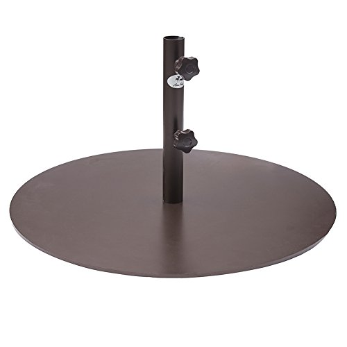Abba Patio Round Steel 28 inch Diameter Market Patio Umbrella Base, 55 lbs, Bronze (Stone Covered Patio)