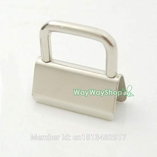 (Buckes - 100 PCS Key Fob Hardware 25mm 32mm 1'' 1.25'' for Keychain Split Ring Wrist Wristlets Cotton - (Size: 32mm))