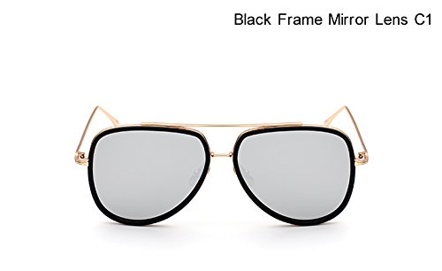 de de de Plano Metal Espejo de Las Espejo artesan¨ªa Pynxn Lujo Gafas de o C1 Aviador Negro Marco Joyer¨ªa Sol Gran Tama Color del de de de C1 Gafas Sombras Panel Negro Espejo de IzIxqZY