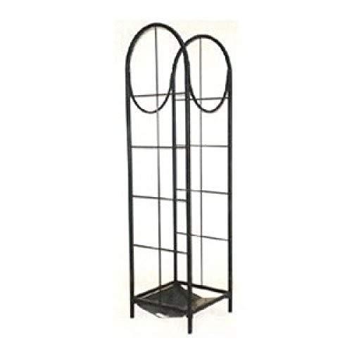 (panacea products corp 15232 Black, Vertical Log Storage Rack)