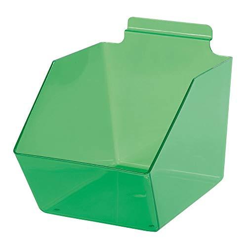 "Buy All Store 10 Slatwall Bins Dump Acrylic Green 9 ½"" x 6"" W X 5 ½"" Plastic Retail Display -  buyallstore"