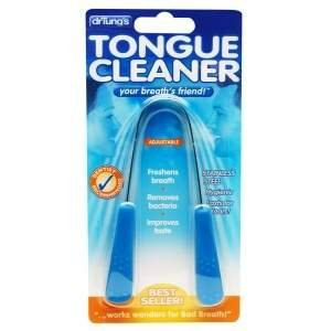 Dr. Tung's Tongue Cleaners Comfort-Grip Tongue Cleaner, Stainless Steel with Assorted Grip Colors - 2pc