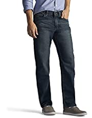 Lee Jeans con Pierna Recta, Ajuste Regular para Hombre, Thunder, 33W x 29L