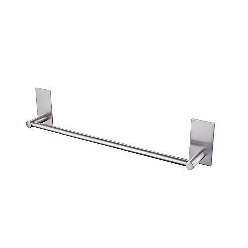 KES Bathroom Lavatory 3M Self Adhesive Single Towel Bar 15.7-Inch, Brushed Stainless Steel, A7000S40-2
