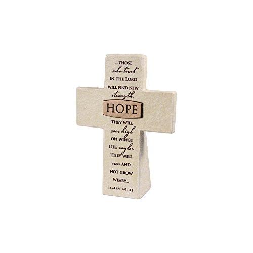 Lighthouse Christian Products Hope Title Bar Desktop Cross, 5 1/2 x 4