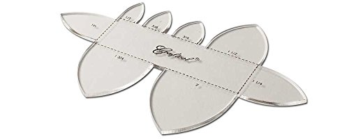Tandy Leather Craftool Acrylic Template Multi-Strap End Pointed 3604-03 (Tandy Leather Belt Kit)