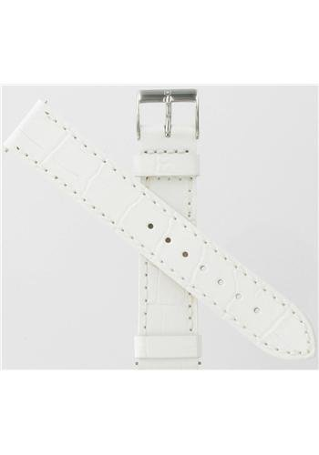 Genuine Swiss Army Alliance Chronograph 17mm White Leather Strap