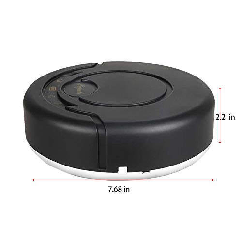 Pro Robotic Vacuums,BCDshop Rechargeable Automatic Smart Cleaner Sweeping Robot Strong Suction Floor Cleaning Machines Mop Cleaning Dust,Pet Hair (Black)