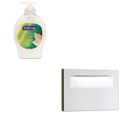 KITBOB221CPM26012EA - Value Kit - Bobrick Stainless Steel Toilet Seat Cover Dispenser (BOB221) and Softsoap Moisturizing Hand Soap w/Aloe (CPM26012EA)