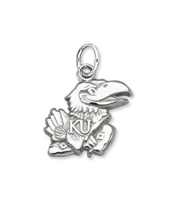 University of Kansas Jayhawk Pendant 7/16 Inch - Sterling Silver by NCAA Officially Licensed