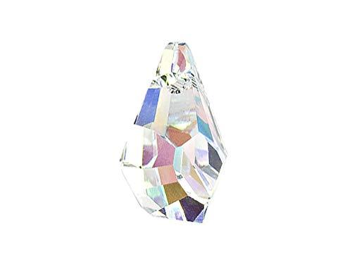 (Swarovski Crystal, 6015 Polygon Drops Beads 17mm, Crystal AB, Wholesale Packs   Pack of 6)