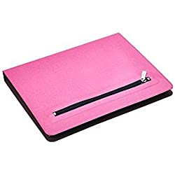 iCarryAlls Organizing Folio Case, 3-Ring Binder Portfolio with 3/4-inch Round Ring,Holds 8.5 x 11-inch Papers,Pink