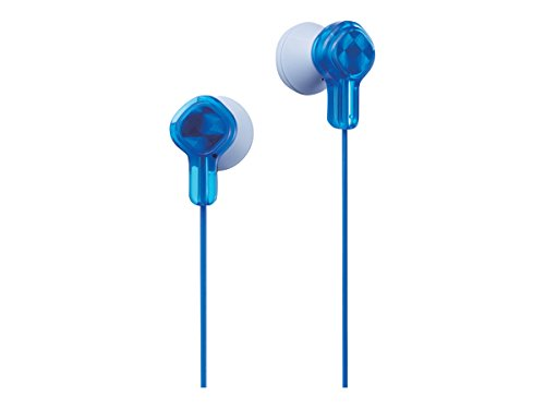 Price comparison product image JVC Wired Earphones - Wired with Stickers, Blue (HA-KD1A)