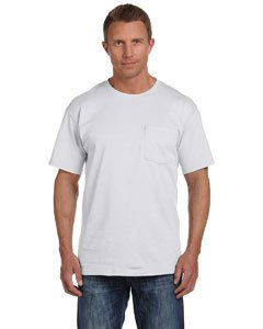 Fruit of the Loom 5.6 oz Cotton Pocket T-Shirt - ASH - X-Large