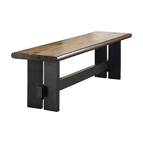 Marquette Live Edge Dining Bench with Trestle Base Natural Honey and Charcoal ()