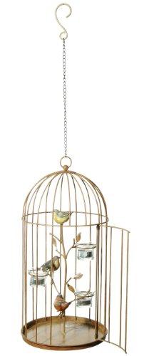 Grasslands Road Metal Birdcage Tealight Holder, 18-Inch Diameter Garden Aviary