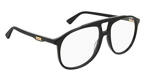 Gucci GG 0264O 001 Black Plastic Aviator Eyeglasses ()