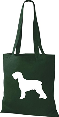 Bag Schnauzer Cotton in Messenger Green a Natural Bag of Bags Dog Zoo Green Fabric Available Animals Range Colours qIpYWX