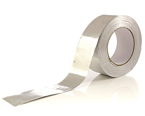 Aluminum Tape/Aluminum Foil Tape - Professional/Contractor-Grade - 1.9 inch x 150 feet (3.4 mil) - Perfect for HVAC, Duct, Pipe, Insulation and More - By Impresa Products (Best Rated Gutter Covers)