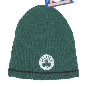 Boston Celtics NBA Green & Black Reversible Ribbed Knit Beanie Hat Adidas Nba Reversible Knit Hat