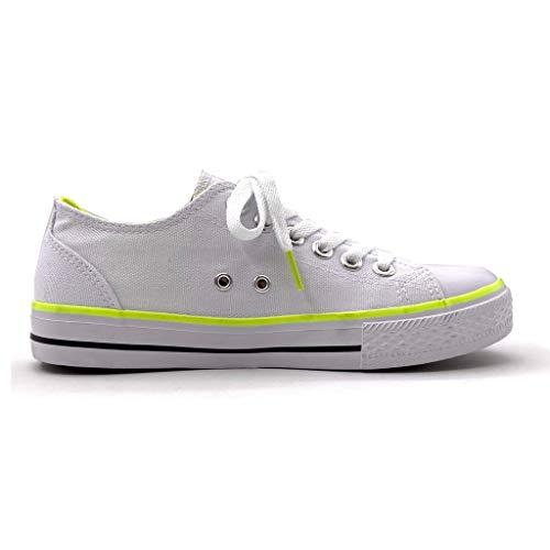 Piatto Tennis 13 Sneaker Moda Angkorly Comfortable Cm Bo T 2 39 Basic Tacco Scarpe Donna 5 Ingiallimento xSq8qw6I