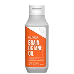 Brain Octane Premium C8 MCT Oil from Non-GMO Coconuts, 14g MCTs, 16 Fl Oz, Bulletproof Keto Supplement for Sustained…
