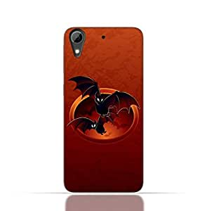 HTC Desire 826 TPU Silicone Case with Halloween-Bats Design.