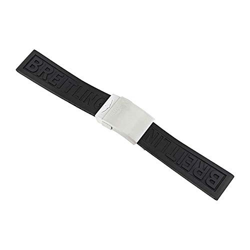 Strap Rubber Breitling (Breitling 20-22 mm Diver Pro Black Rubber Strap)
