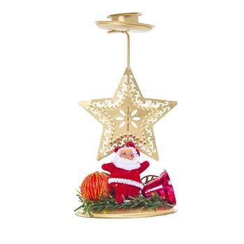 (Flodance Xmas Candle Holder Stand Tree Deer Snowflake Shape Candlestick Christmas Tree)