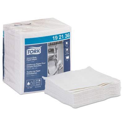 """Heavy-Duty Paper Wiper 1/4 FOLD, 13"""" X 12.5"""", White, 56/PK, 16 PK/CT"""