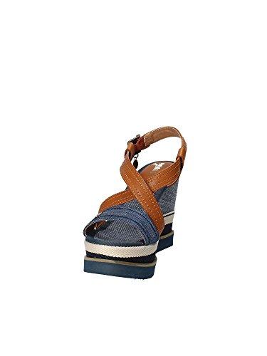 amp; A18 Jb825 Sandalo Zeppa Donna Blu Gold q5Tdwxq