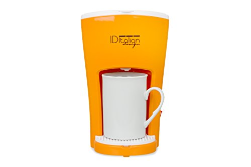 Italian Design IDECUCOF01 CAFETERA FUNNY PRO COFFEE MAKER, 450w-IDECUCOF01, Naranja