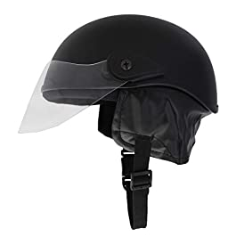 Western Era Half Helmet with Clear Visor for Men & Women ||Safety & Comfort|| Stylish Enhanced Design || (Black Matte…