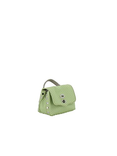 Zanellato Borsa A Mano Donna 631653C4 Tessuto Verde