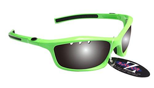 RayZor Professional Lunettes de soleil protection UV400pour Sport Randonnée Vert, ultra léger avec un système anti-goutte fumé Effet miroir anti-reflet Objectif