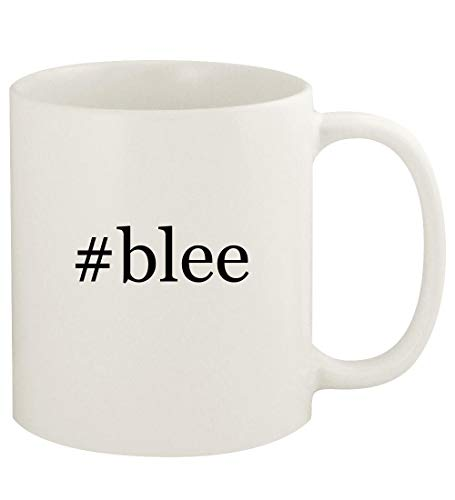 #blee - 11oz Hashtag Ceramic White Coffee Mug Cup, White