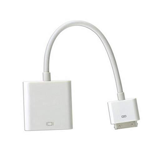 Price comparison product image Ffpazig iPad para Cable adaptador HDMI Conector de acoplamiento de alta definición para adaptador HDMI para TV AV Cable Digital HDMI para iPhone 4 Blanco(Accessories)